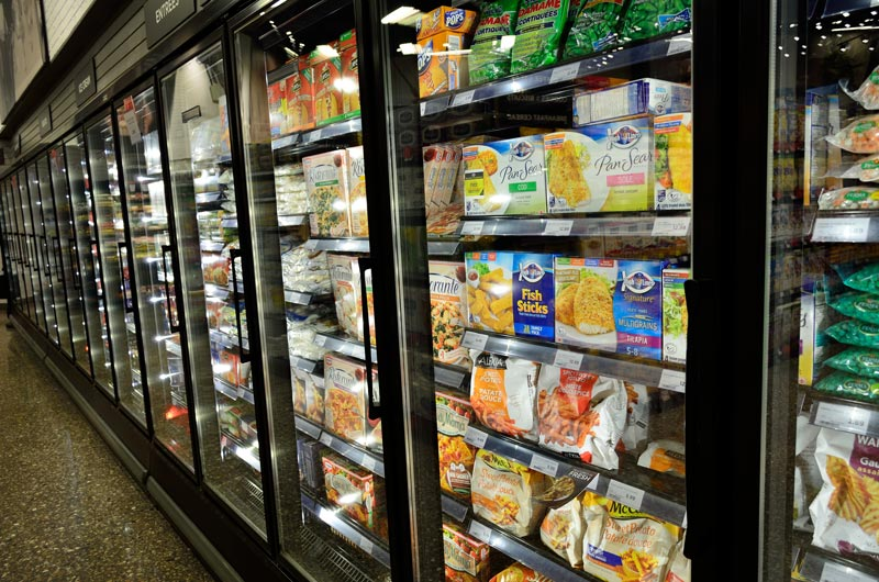Frozen Food in Freezer Unit - LF Air Conditioning Refrigeration